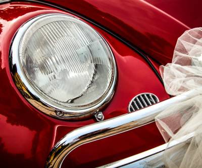 photo-volkswagen-car-wedding-red